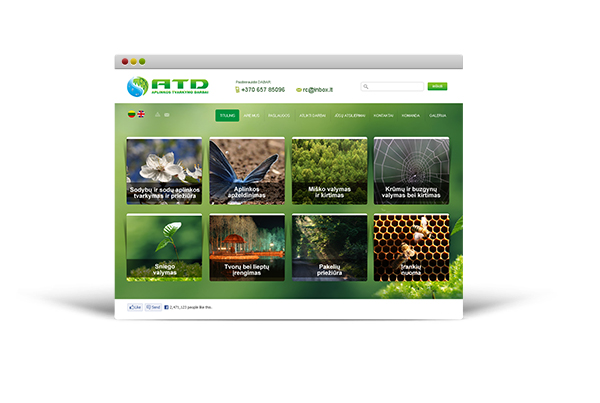 The website – atd.lt