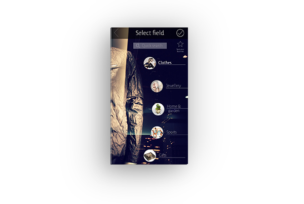 Mobile application design for Great Britain – Fashion