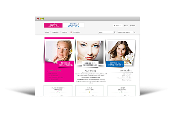 Beauty Academy website with electronic store