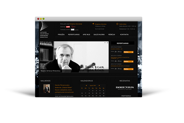 Lithuanian State Symphony Orchestra Website