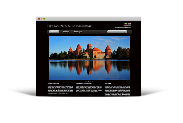 The website of Lithuanian landscapes