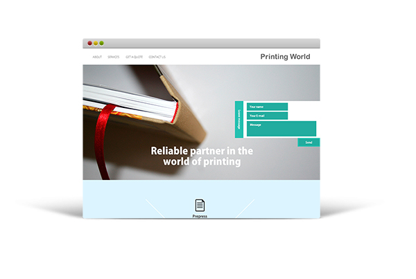 Printing works website