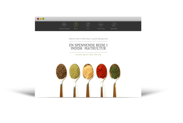 The restaurant website for Norwegian market