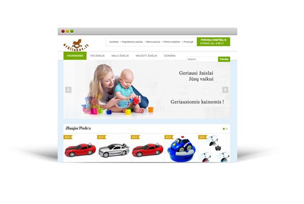 Žaislų elektroninė parduotuvė