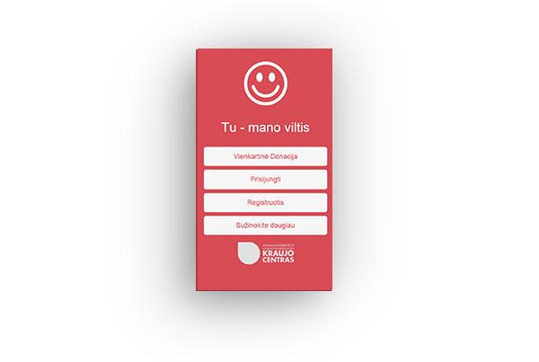 Mobili aplikacija – Tavo kraujas