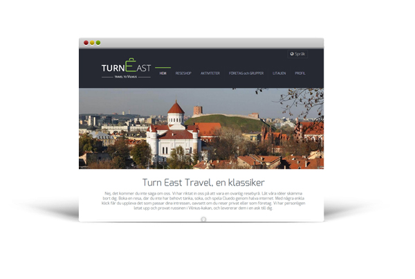 Travel agency website – Turn East Travel